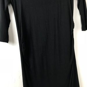 Dresses - Black 3/4  Sleeve Maternity Dress
